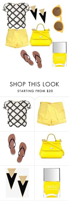 """""""#18"""" by natalia-kadar ❤ liked on Polyvore featuring Lipsy, Tory Burch, Dolce&Gabbana, Yves Saint Laurent, Nails Inc. and CÉLINE"""