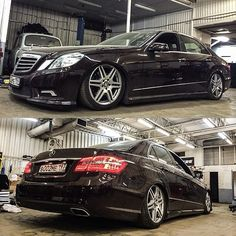 Dumping luxury cars all day. E class.