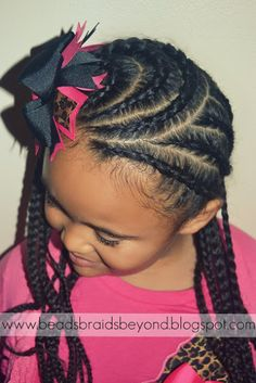 Beads, Braids and Beyond: Little Girls Natural Hairstyle: Curled Cornrows & Afro Barbie Set by Miss Teeny Fab Couture Review!