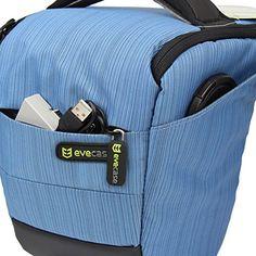 Evecase Blue Digital SLR Camera Holster Case/Bag for Canon EOS SL1 T5i T5 T4i T3i T3 T2i 70D 60D 7D Mark II and more DSLR Cameras
