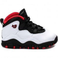Jordan Air Jordan Retro 10 Double Nickel Lifestyle Shoes (White/Varsity Red-Black) Limit 1 Per Customer at Shoe Palace