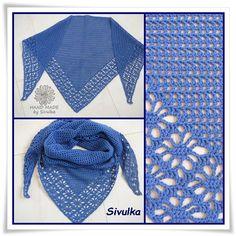 háčkovaný šátek,vzor pavoučci,3 klubka alize bella,háček č.3 ,136x62 cm