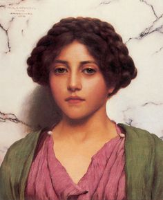 A Classical Beauty by John William Godward. MuseumSyndicate: many artists and works of art