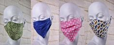 Dust - mouth protection: two variants for a colorful dust protection for the face: washable and sustainable! - Dust – mouth protection: two variants for a colorful dust protection for the face: washable and s - Sewing Hacks, Sewing Tutorials, Sewing Crafts, Sewing Projects, Sewing Patterns, Homemade Mask, Strawberry Smoothie, Sewing For Beginners, Sewing Techniques
