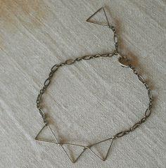 Brass Triangles Bracelet