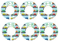 6 Custom Baby Closet Dividers Trucks And Cars Closet Organizers Baby Boy Nursery Shower Gift on Etsy, $18.00