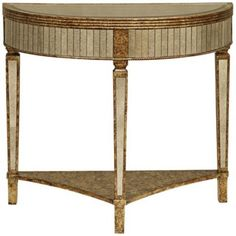 Goshen Hand-Painted Gold Mirrored Console Table $300
