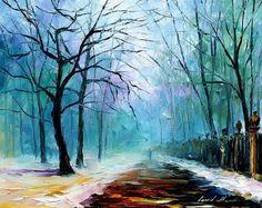 6a 16x20 WINTER FOG - original oil painting by Leonid Afremov, via Flickr.