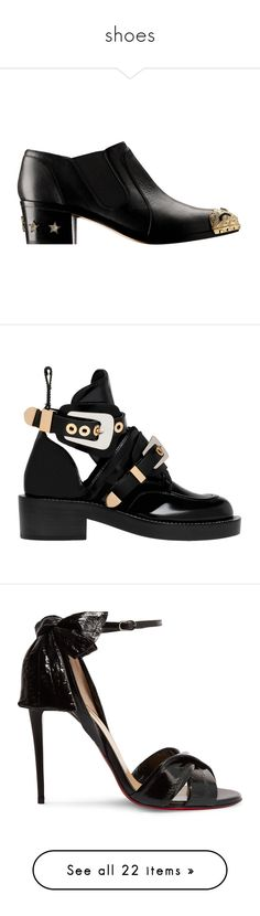 """""""shoes"""" by erik-a-1 ❤ liked on Polyvore featuring shoes, chanel, boots, ankle booties, black, women shoes ankle boots, black ankle boots, black leather ankle booties, black ankle bootie and black ankle booties"""