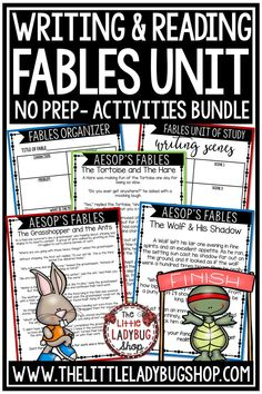 You will absolutely LOVE this Fables Unit for analyzing and writing fables! Fables is possibly one of my favorite genres to teach children! I created a packet that will work wonderfully for your students in learning and studying this genre. Your kids will love reading, showing their comprehension skills. Perfect for 3rd grade, 4th grade, 5th grade and home school students #aesopsfables #fablesunit #fableswriting