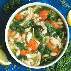 Δροσερή κοτόσουπα με λαχανικά και φασόλια | tlife.gr