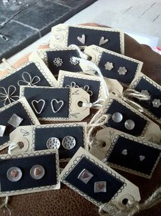 .tags as earrings cards