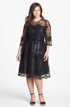 Alex Evenings Fit & Flare Lace Dress (Plus Size) available at #Nordstrom