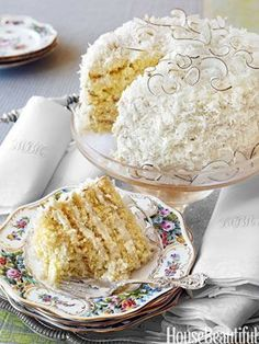 Dorothy's Coconut Cake Recipe from Alex Hitz http://www.housebeautiful.com/kitchens/recipes/alex-hitz-homemade-coconut-cake-recipe-0513?src=spr_FBPAGE_id=1451_7705110