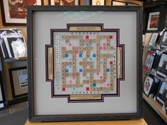 Talk about a great gift - give a #customframed board game! #Art & an activity in one :-)