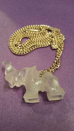 Carved elephant necklace signed Germany