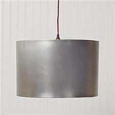 Metal Drum Shade Pendant Light Antique Pewter Handcrafted metal drum shade pendants bring a mood of rustic refinement. Earthy metal is handfinished. 2x60 watts. 7 cord. (10Hx16W) 	 Product SKU: PE12037 PW Price:  $179.00