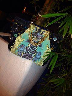 Borsa in jeans e tessuto pezzo unico ..per info email :CinziaCatalini@gmail.com o ️️Facebook :cinzia fantasy