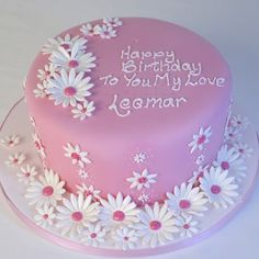 PRETTY PINK PETAL CAKE CL0170 bea fancies for her birthday www.Panari.co.uk