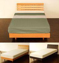 【送料無料】ベッドセミダブルベッド木製ベッドロータイプベッドパネルデザインローベッドForest【セミダブル】マットレス付きセットナチュラルブラウン