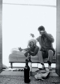 Marilyn Monroe and Bert Stern during a photo shoot, 1962.  RIP ~ Bert Stern who sadly passed away on 25 June 2013 Age 83.