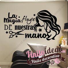 Vinilo decorativo adhesivo para peluquerías y estéticas. Visita nuestra tienda online www.viniloideal.es
