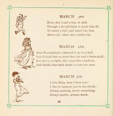 Kate Greenaway's birthday book - 1846-1901; verse by Mrs Sale Barker, Sale,  Published [1880?]