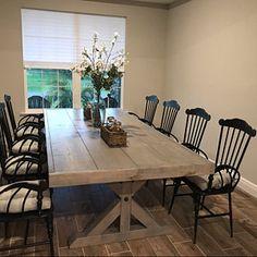 Items similar to Barn Door, Farm House Door, Farm Door on Etsy Farmhouse Table With Bench, Farmhouse Kitchen Tables, Rustic Table, Trestle Table, Dinning Table, Plank Table, Table Bench, Dining Rooms, Stained Table