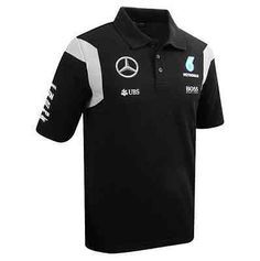 #Mercedes amg petronas f1 official mens team polo #shirt - 2016 - #black, View more on the LINK: http://www.zeppy.io/product/gb/2/121914181827/