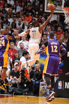 FEBRUARY 10: Dwyane Wade #3 of the Miami Heat goes to the basket