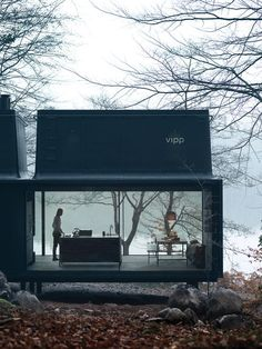 For 2015,Vipp, the Danish industrial design companyknown for its iconic trash cansand all-black kitchens, introduces a 592-square-foot prefab unit calledShelter.