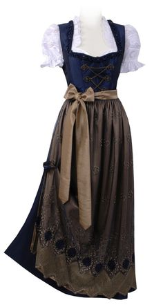 When I was a little girl, my parents got me a Dirndl.  It was beautiful, with Edelweiss decorating it in perfect stitching.  I still have it, tiny thing, and can't believe I ever fit into it.  Today's Dirndls can be beautiful, even fabulous!  Here are some I found, on the Web.