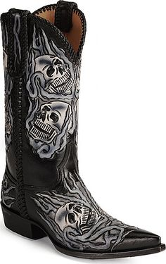 Men's Old Gringo Hitchcock Boots Black/Silver #M588-2 | Men's ...