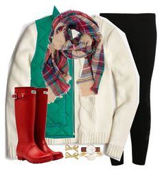 """""""mistletoe and mugs"""" by emmig02 ❤ liked on Polyvore featuring NIKE, J.Crew, Hunter, Bourbon and Boweties and Kate Spade"""