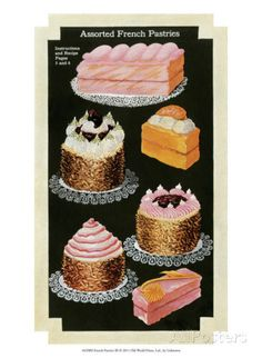 French Pastries III Posters - AllPosters.co.uk