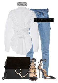 """Untitled #741"" by vanessa-antar ❤ liked on Polyvore featuring Vetements, E L L E R Y, Chloé and Dsquared2"