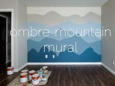Ombré Mountain Nursery | Design by Numbers                                                                                                                                                                                 More