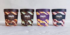 Spreading sweet relief with CBD ice cream brand, Melt.At Hunger, we wanted to create the ultimate way to chill out with a dreamy, California-inspired CBD-infused ice cream. Design Agency, Branding Design, Food Branding, Branding Agency, Ice Cream Packaging, Food Packaging, Product Packaging, Ice Cream Design, Ice Cream Brands