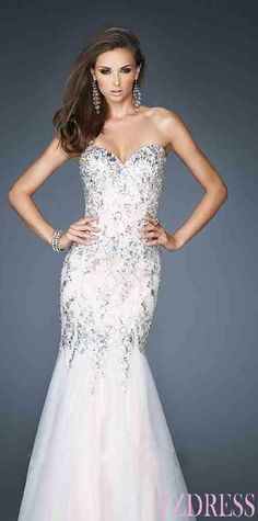 Prom dresses Prom dresses - love this dress! but i wouldnt wear white to prom so change the color