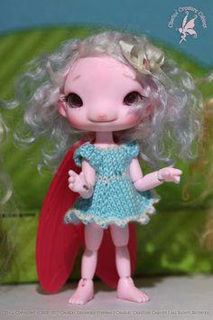 MiMi Ginger Flower Bud Faerie ~Strawberry Milkshake Glow-in-the-Dark Pink