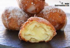 Buñuelos Rellenos De Crema  | Gastronomía & Cía