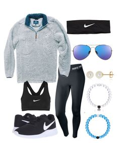 comfiest outfit... by emmi9508 ❤ liked on Polyvore featuring NIKE and Belk Co.