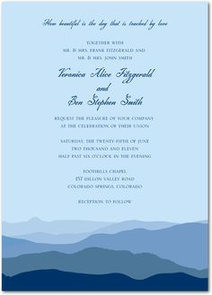 ombre forest signature white textured wedding invitations in Wedding Paper Divas Ombre Forest ombre forest signature white textured wedding invitations in willow or amethyst smudge ink wedding, forest wedding invitations and wedding paper divas Wedding Dresses