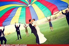 Bridal Pink Parachute Wedding Canopy by MatihldeVonSpezie Cute Wedding Dress, Perfect Wedding, Dream Wedding, Wedding Dresses, Wedding Games, Wedding Planning, Wedding Ideas, Wedding Stuff, Wedding Fun