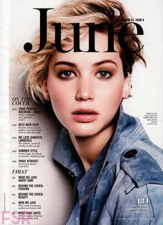 Jennifer Lawrence For Marie Claire Magazine,US, June 2014