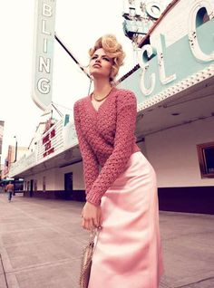 Retro Road Trip Editorials - The Hailey Clauson Vogue Australia Photo Shoot is Gorgeously Glam (GALLERY)
