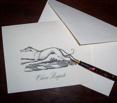 Greyhound Whippet Italian Greyhound Dog 10 Handmade by HappyHound, $9.95