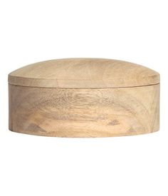 Round wooden box | Beige | Home | H&M MY
