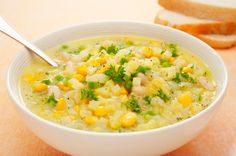 GRANDMA'S RECIPES - A delicious corn chowder recipe that is delicious. Hearty Corn Chowder Recipe from Grandmothers Kitchen. Chowder Recipes, Soup Recipes, Cooking Recipes, Healthy Recipes, Dinner Recipes, Free Recipes, Comfort Foods, Nutrition, Soup And Sandwich