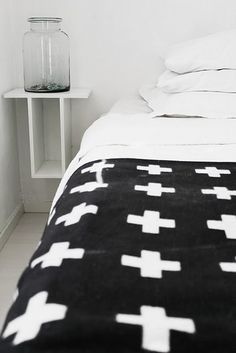 swiss cross blanket